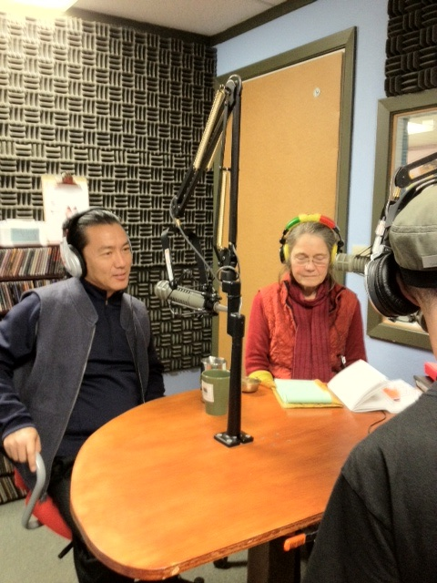 Lama Gursam on radio in  Davis, California with Sunny Shine 2012